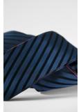 deep blue black stripes/red