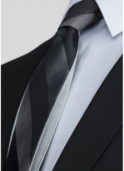 black /stripes / silver